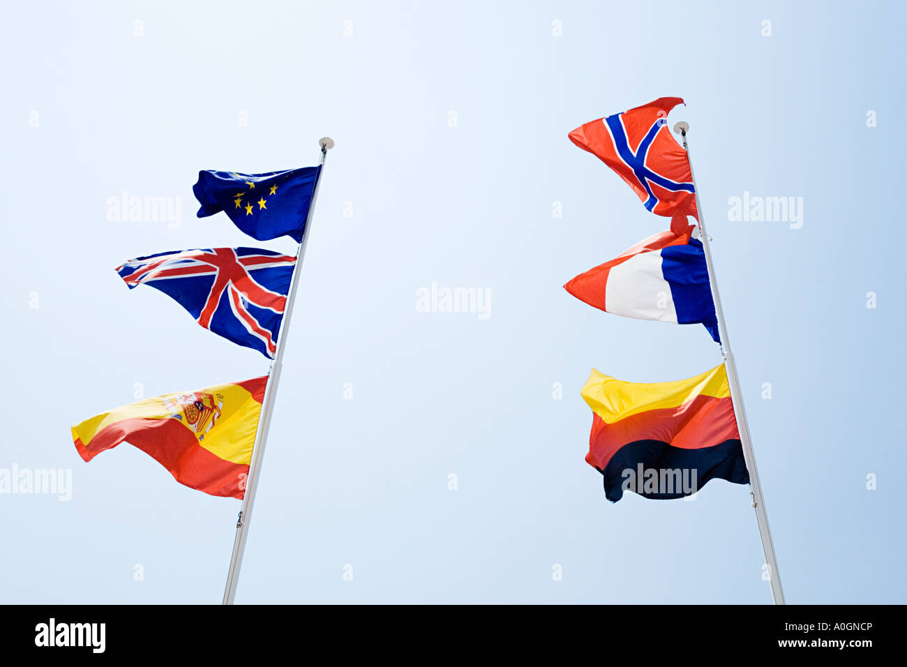 Flags of europe - Stock Image