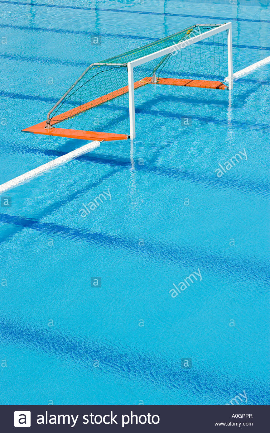 Water polo goal - Stock Image