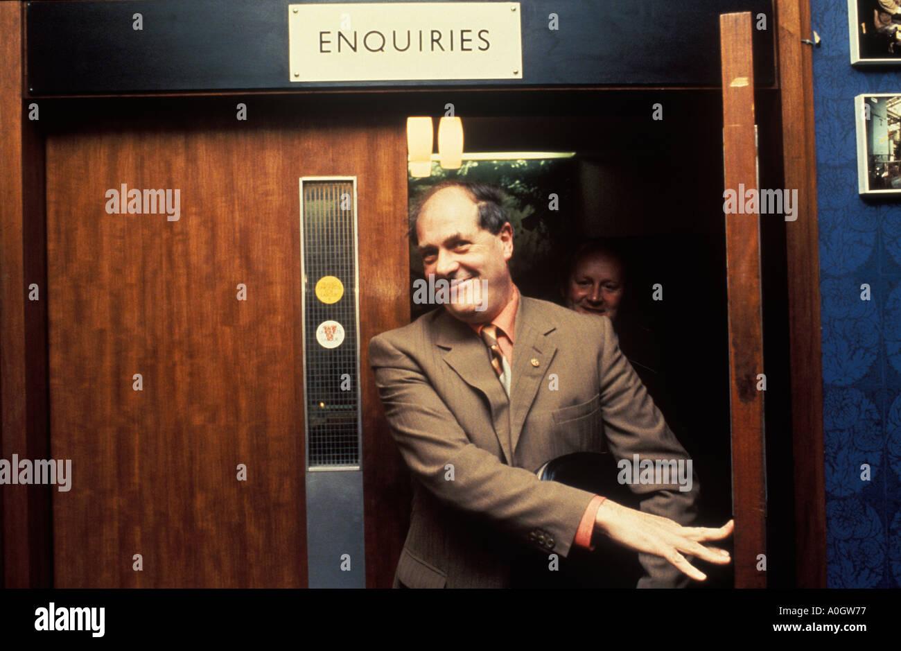 Derek Robinson Red Robbo, Derrick Union Leader at British Leyland Longbridge car plant Birmingham  1980s UK HOMER SYKES - Stock Image