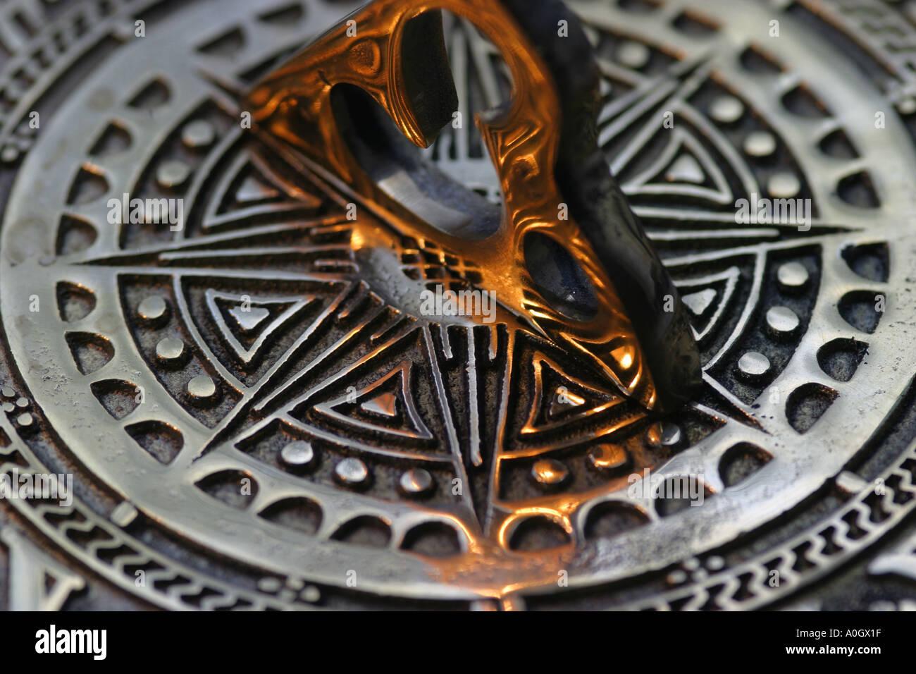 Sun Dial brass decorative - Stock Image
