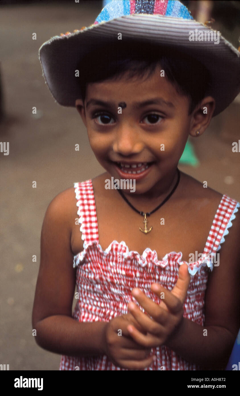 Young girl Sri Lanka - Stock Image