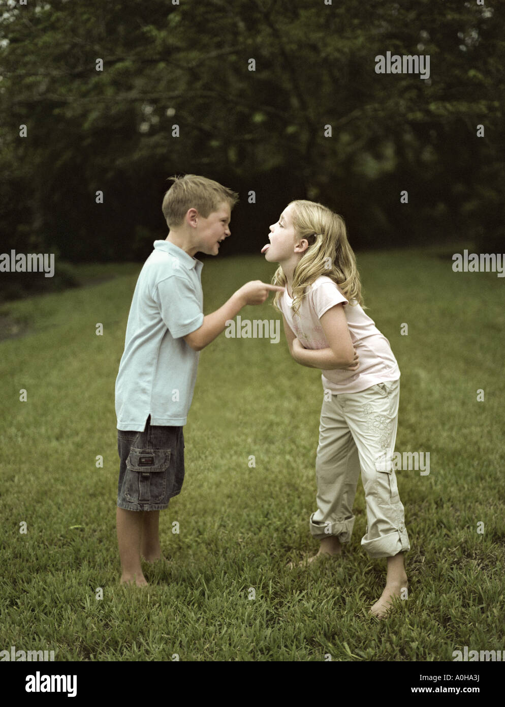 Boy And Girl Bedroom Decor: Siblings Argue Stock Photos & Siblings Argue Stock Images