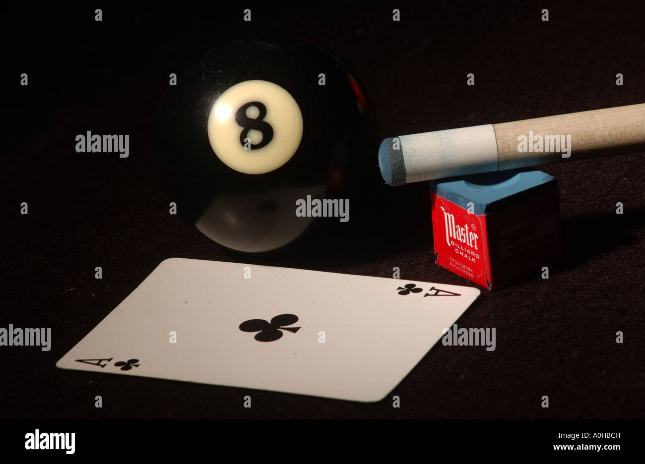 Billiards and cards - Stock Image