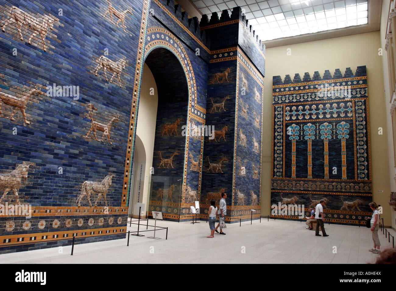 Germany Berlin Museumsinel Inside the Pergamon Museum The gates of Babylon Stock Photo