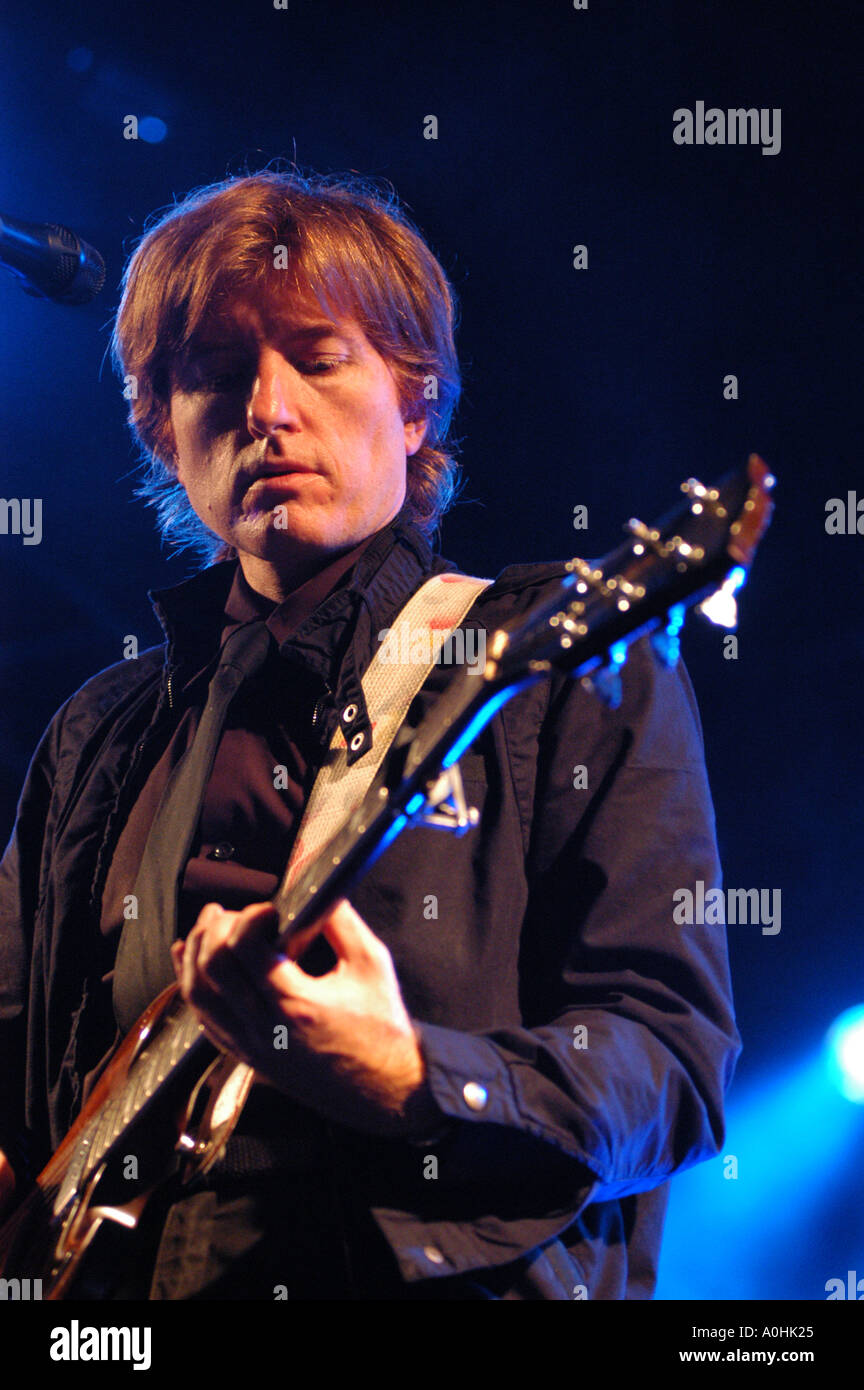 The band Air performing at the Summer Sundae music festival at De Montfort Hall in Leicester on the 15th August 2004 - Stock Image