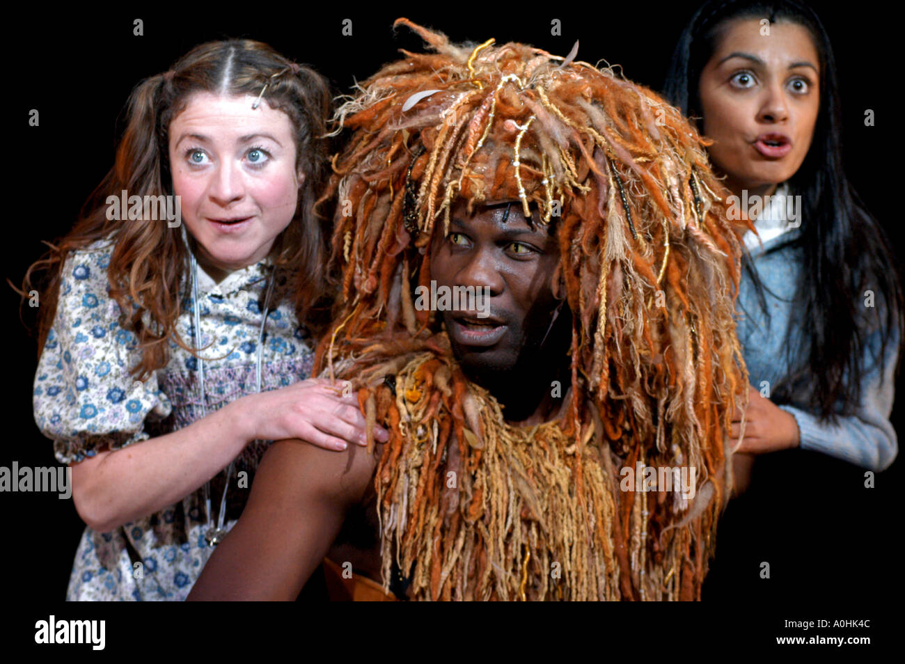 Dress rehearsal for The Lion, The Witch and the Wardrobe at the Haymarket Theatre, Leicester - Stock Image