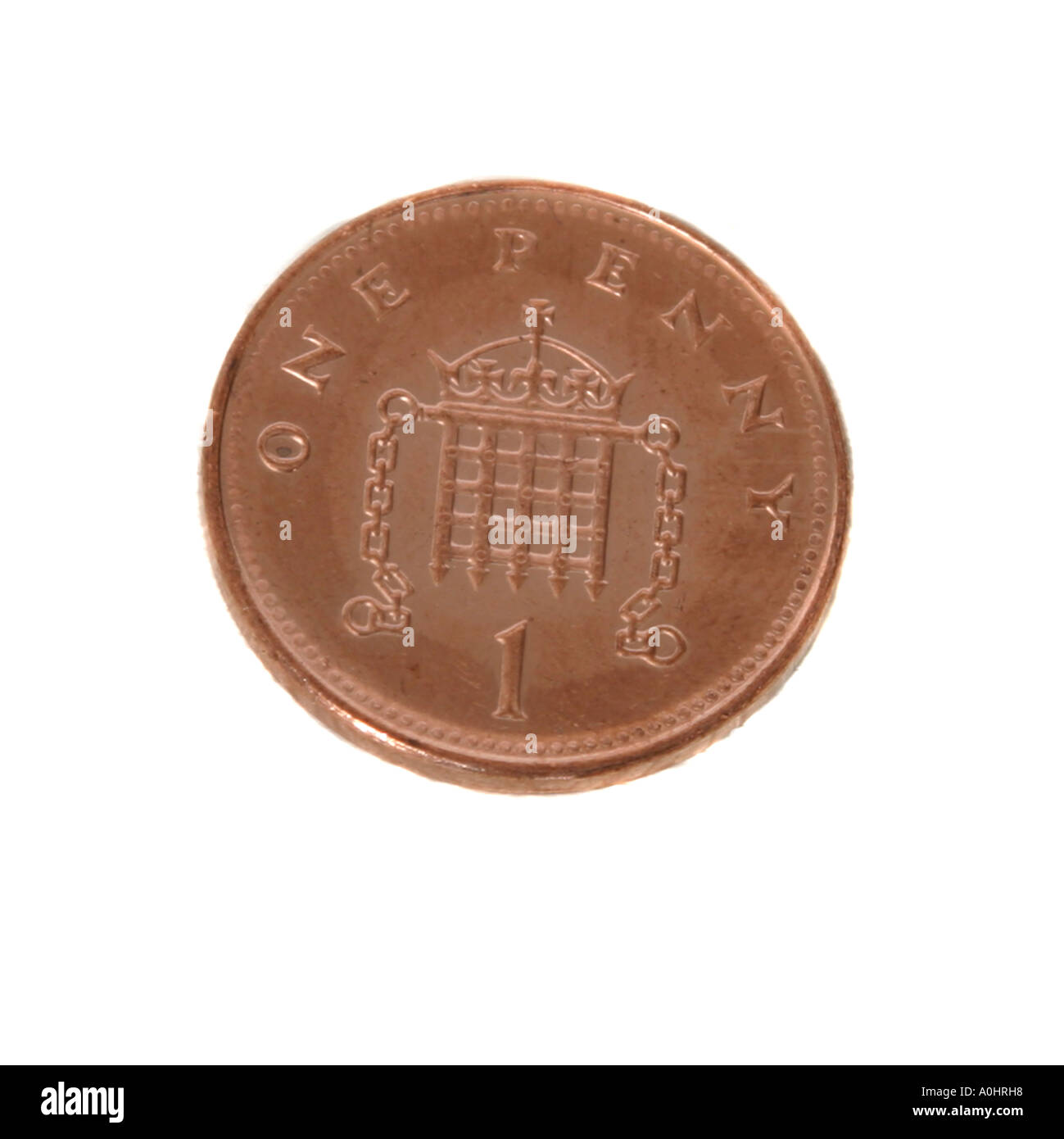 A English one penny piece Stock Photo