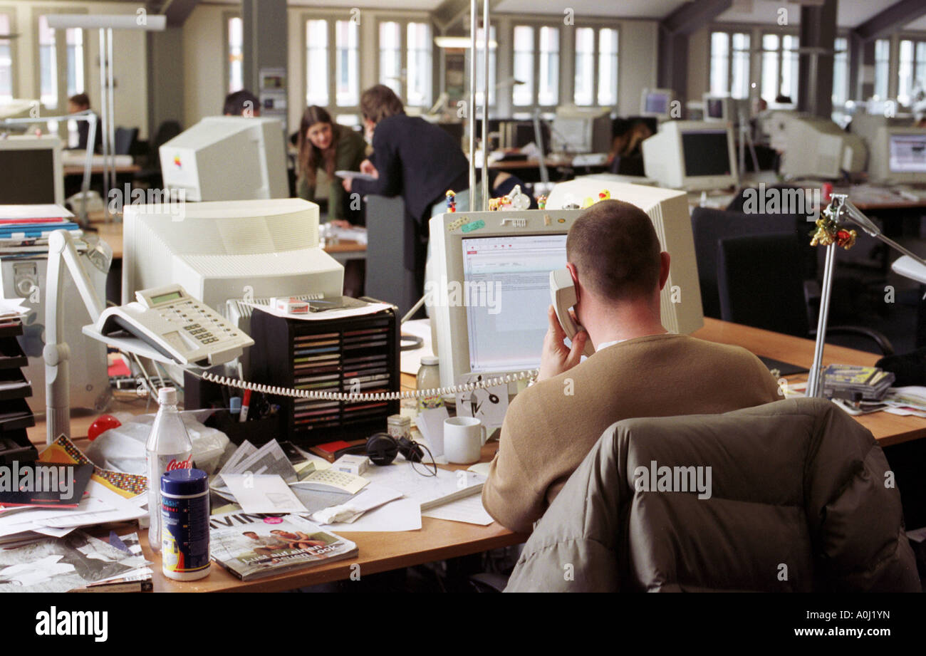 Web Designer In The Office Of The Pixelpark Ag Germany Stock Photo Alamy