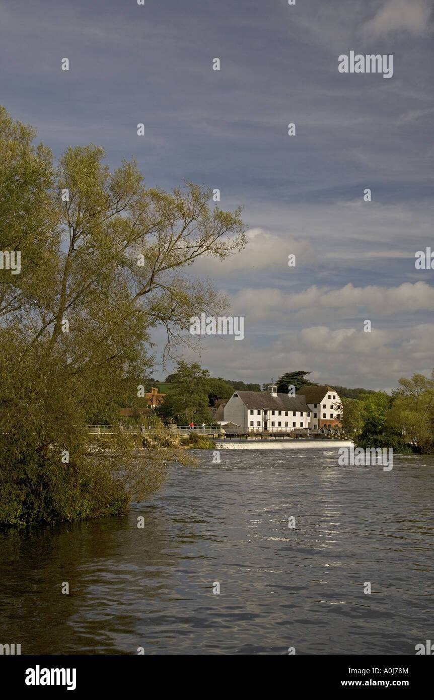 Hambleden Mill River Thames Buckinghamshire UK - Stock Image