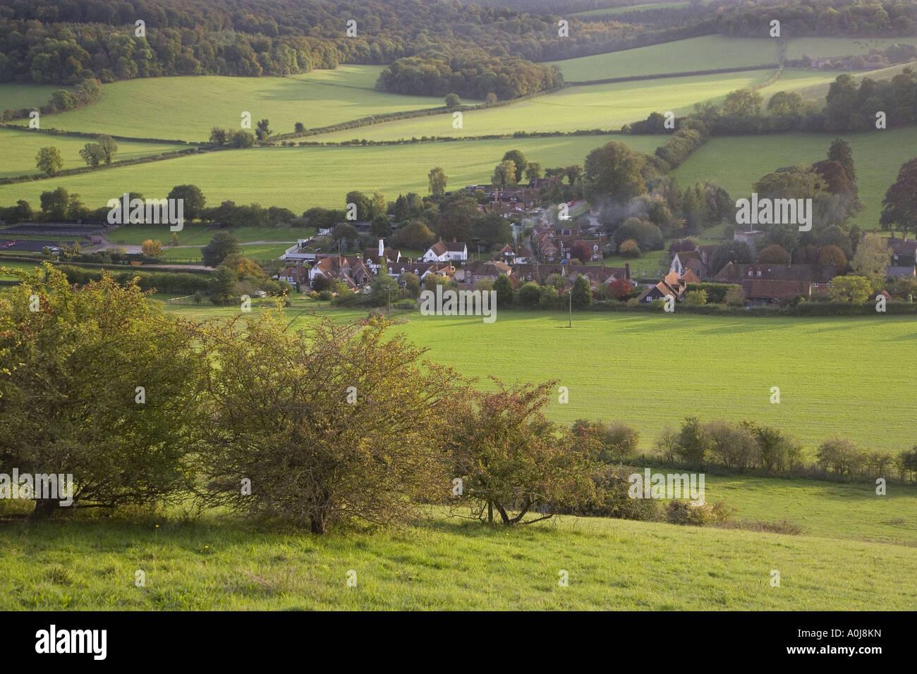 Turville & Hambleden Valley Buckinghamshire UK - Stock Image