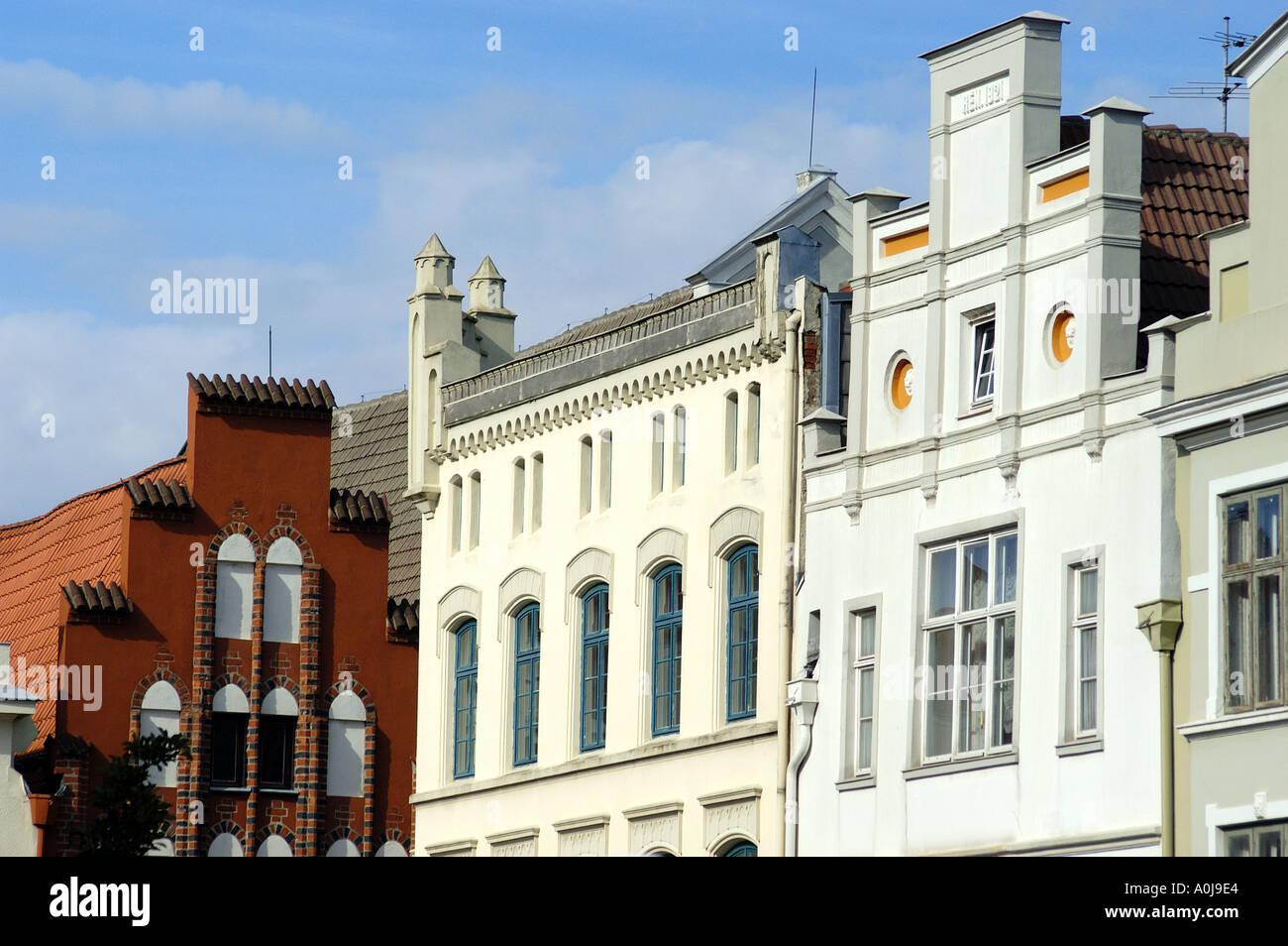 Facades in Wismar - Stock Image