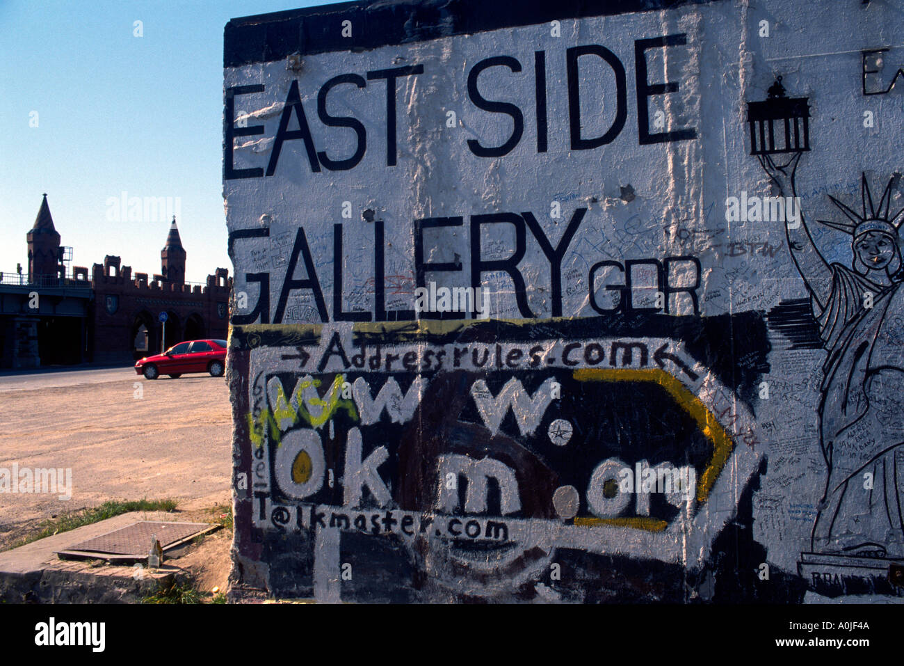 Berlin Germany The East Side Gallery - Stock Image
