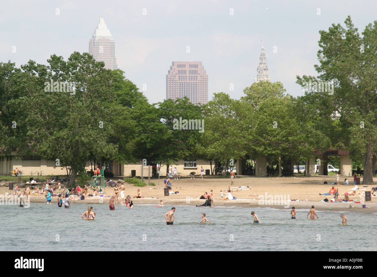 Cleveland ohio lake erie edgewater park public beach - Regional park swimming pool midwest city ok ...