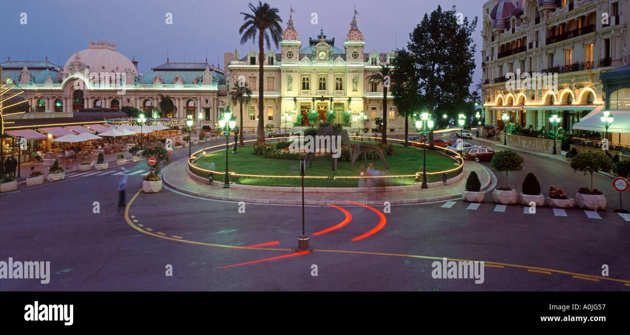 Monte Carlo Casino twilight - Stock Image