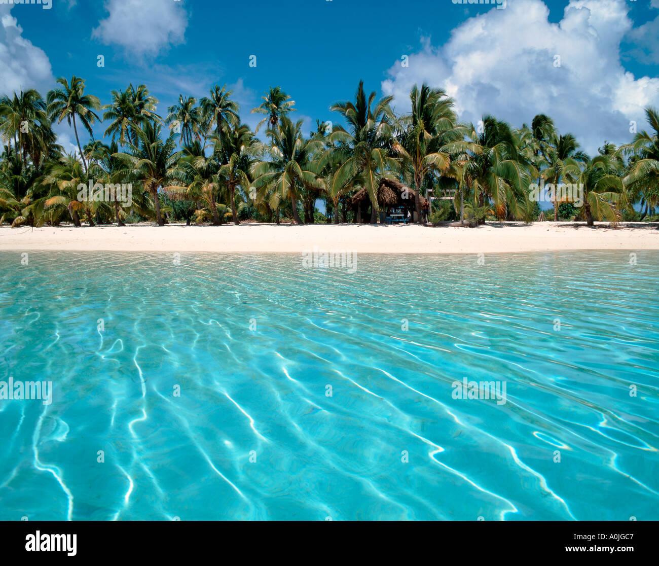 South Pacific Beaches: South Pacific Cook Islands Aitutaki Lagoon One Foot Island