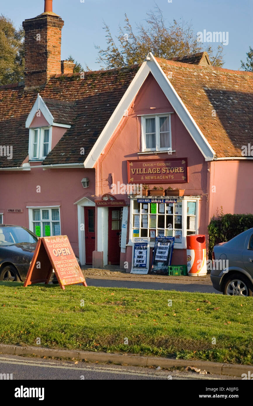 village shop and newsagents in Cavendish, Suffolk, UK - Stock Image