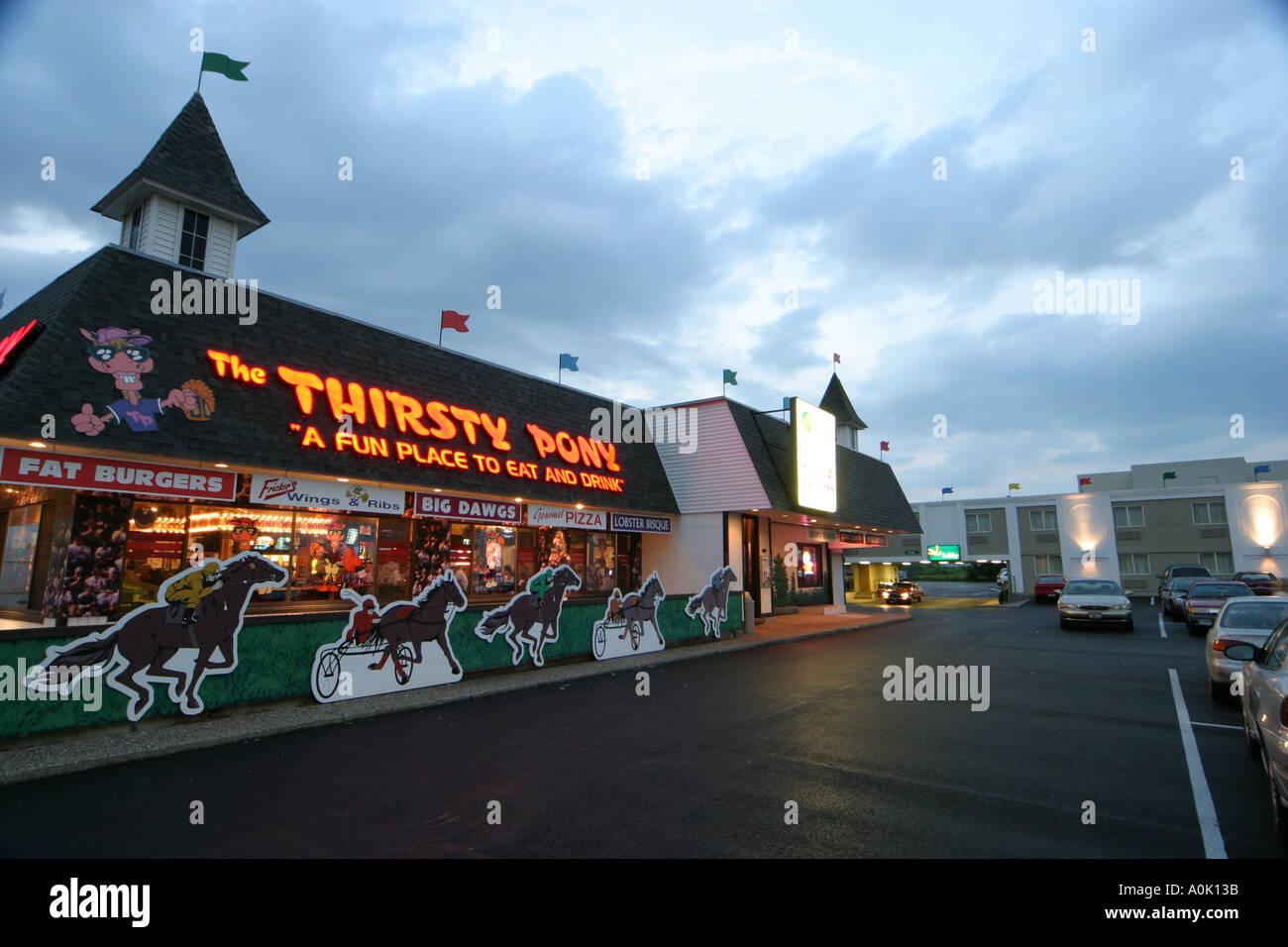 Ohio Sandusky The Thirsty Pony Restaurant Stock Photo 1847610 Alamy