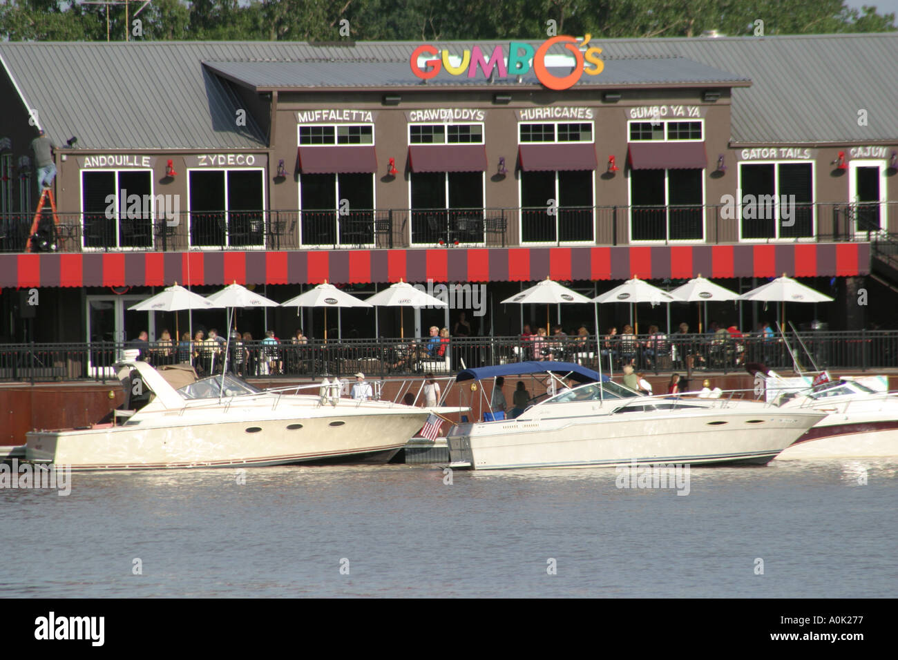 Toledo Ohio The Docks Gumbos Bayou Grill Restaurant Boats Yachts