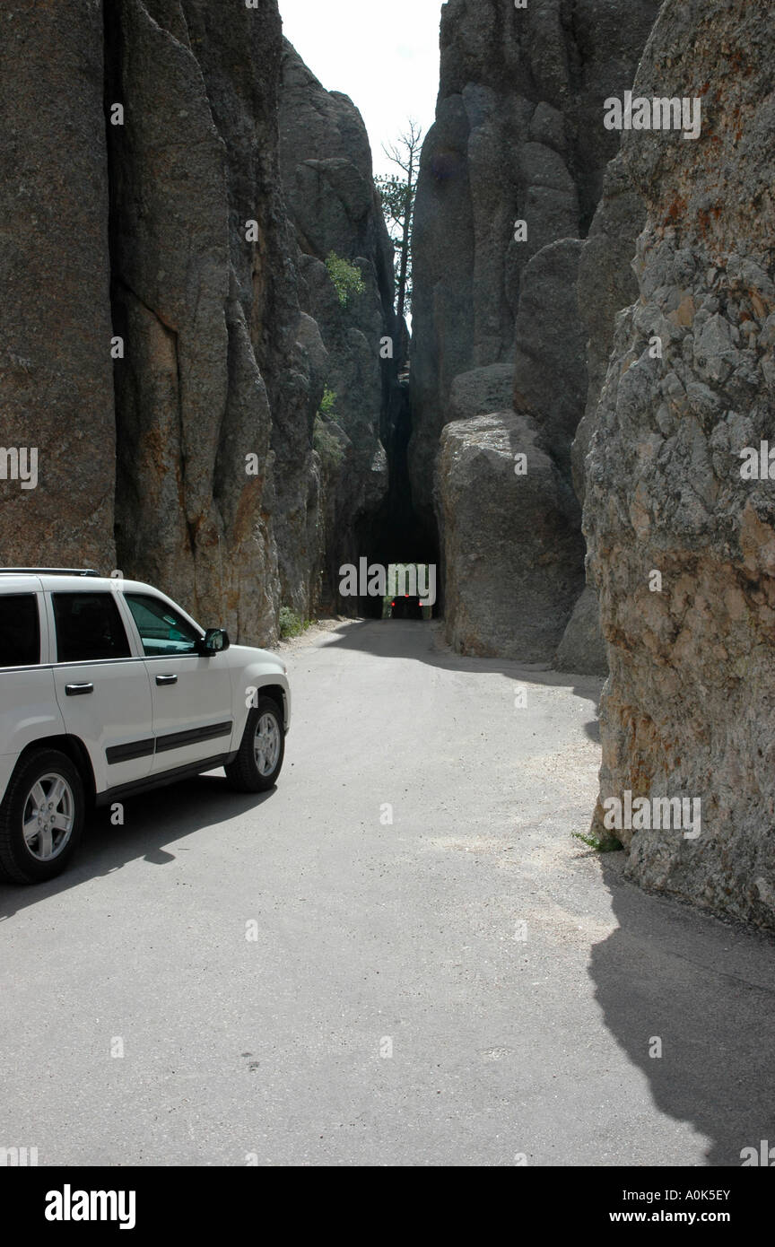 P31 155 Custer State Park SD - Needles Highway - Tunnel 5 - Stock Image