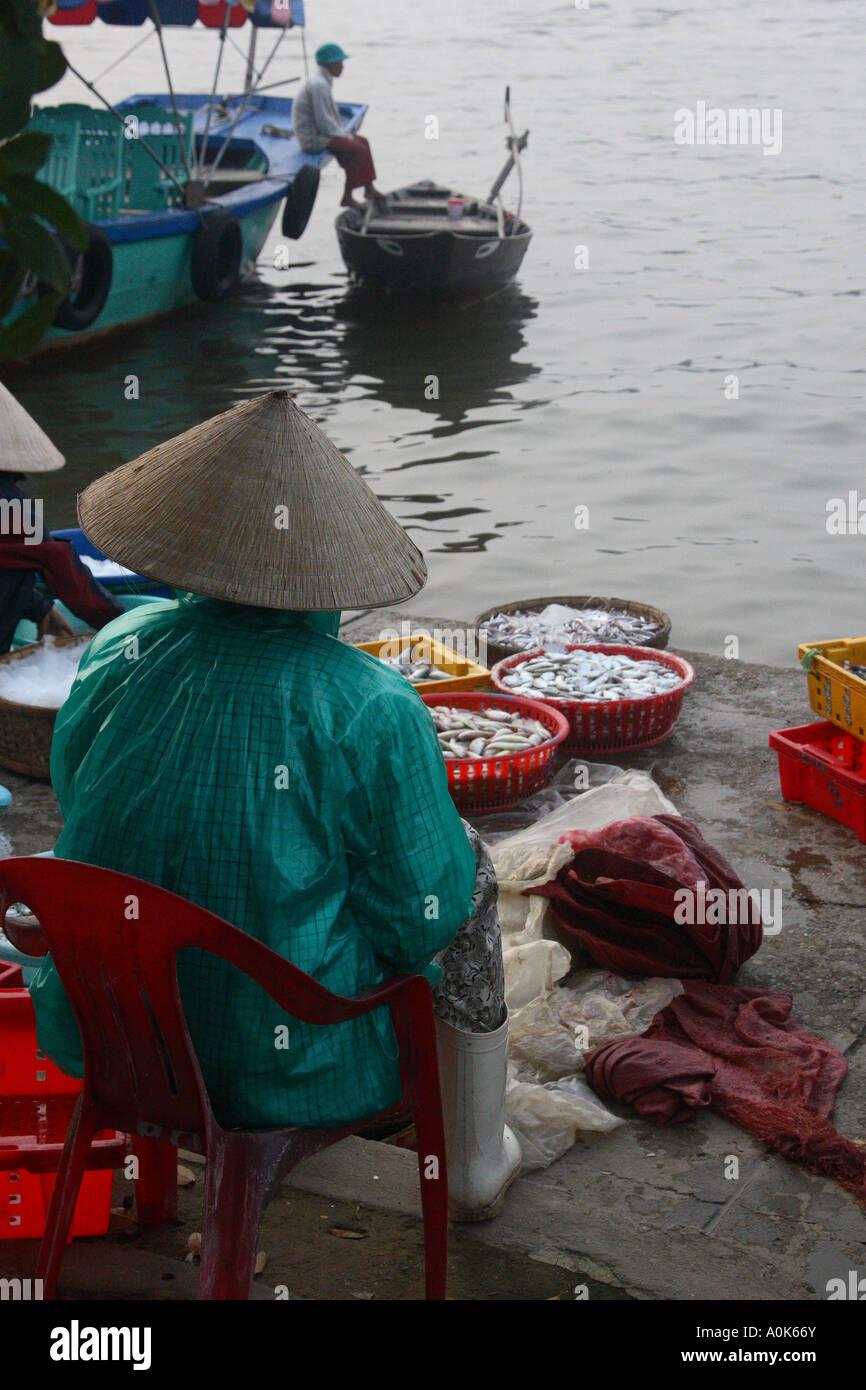 324f01b8f36 Vietnamese Woman Selling Fish Stock Photos   Vietnamese Woman ...