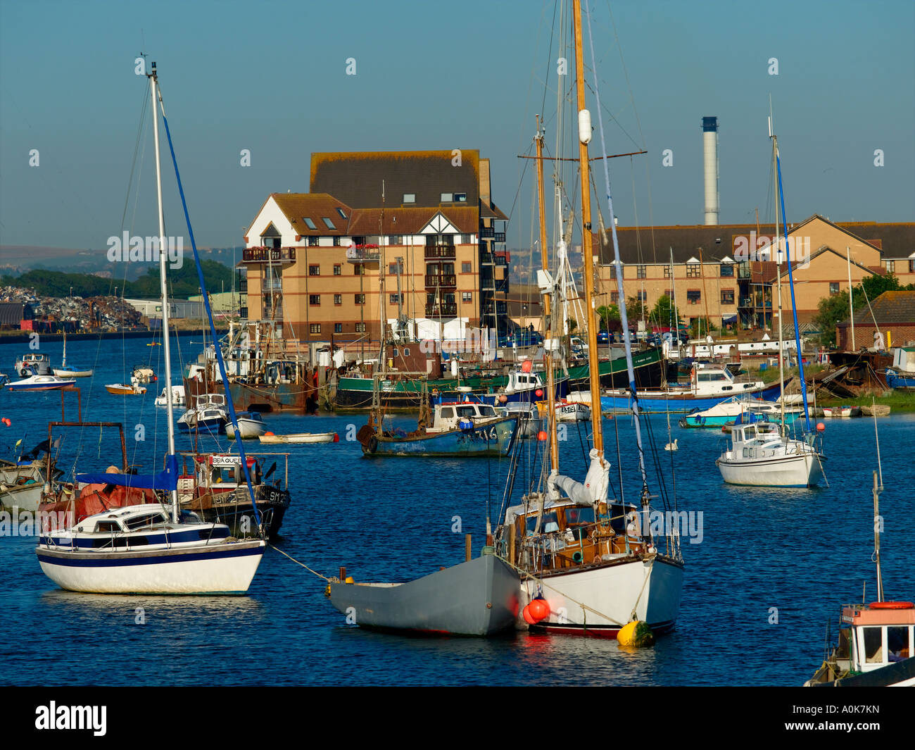 Shoreham Harbour, River Adur Stock Photo