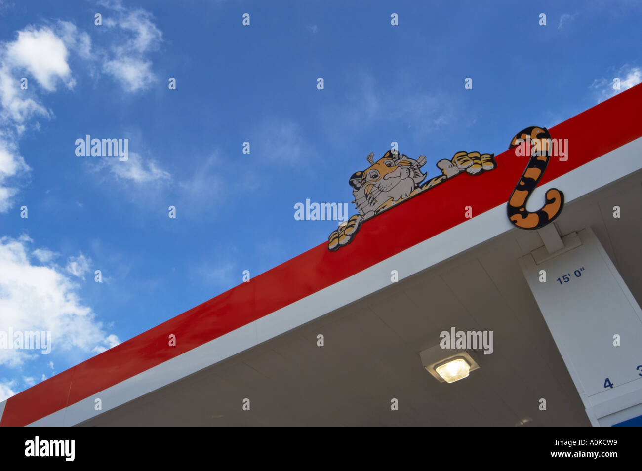 Exxon station United States - Stock Image