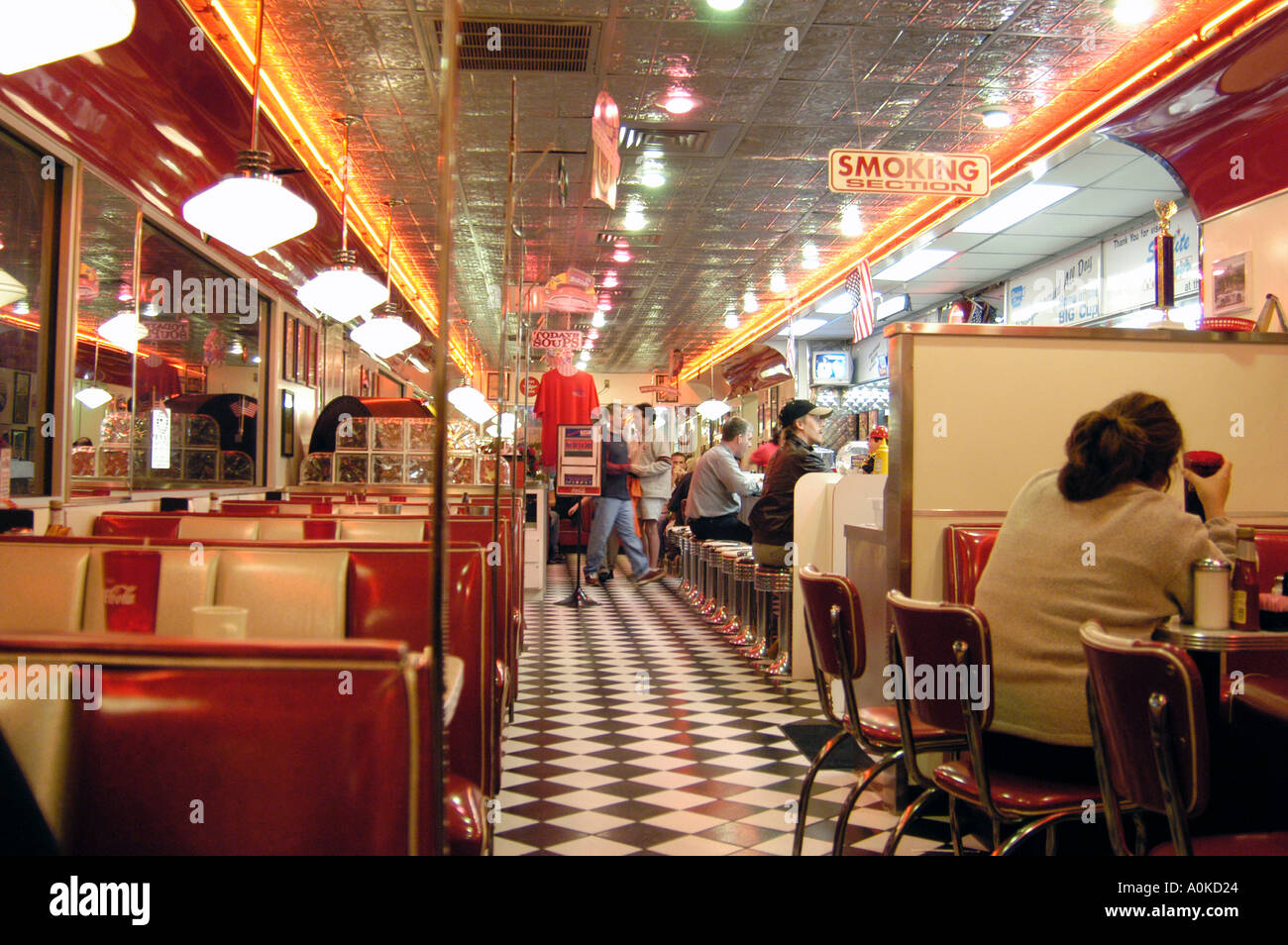 Inside of Diner St Petersburg Florida - Stock Image
