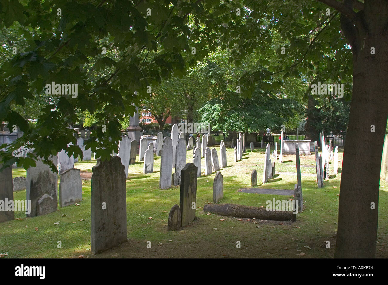Bunhill Fields Burial Grounds in London GB UK - Stock Image