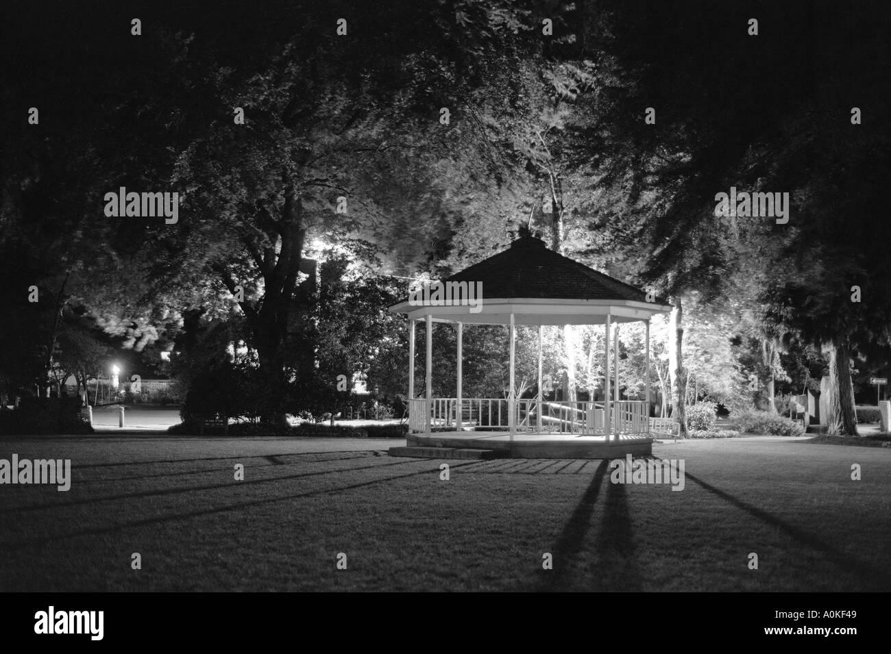Gazebo at Night - Stock Image