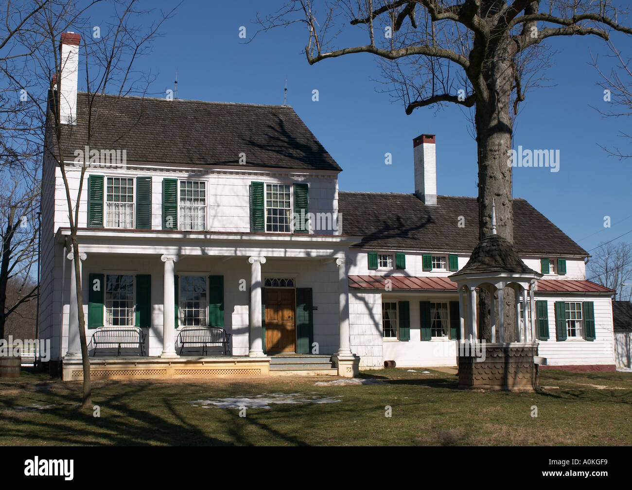 Longstreet home Holmdel Park New Jersey Part of a working farm based on life in the 1890 s - Stock Image