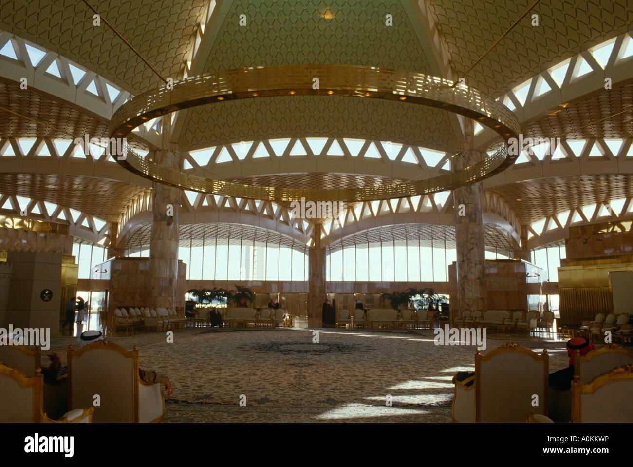 King Khalid Airport in Riyadh, Saudi Arabia - Stock Image