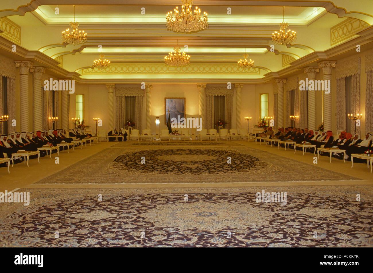 Interior Of King Fahds Royal Palace In Riyadh Saudi
