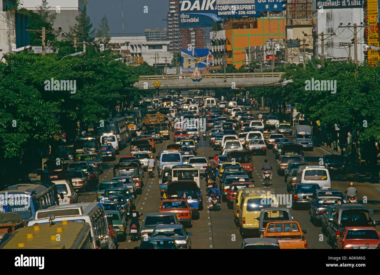 Traffic Jam in Bangkok Thailand - Stock Image