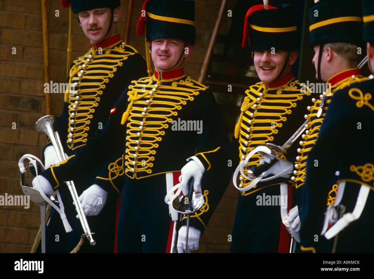 The Kings Troop Royal Horse Artillery at their barracks in St.John Wood London, England - Stock Image