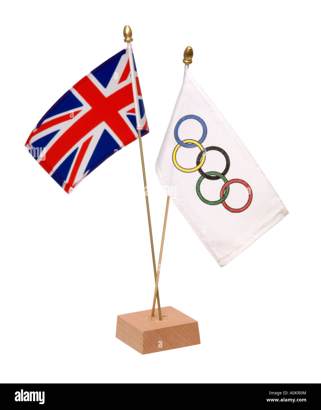 Union jack and olympic flag - Stock Image