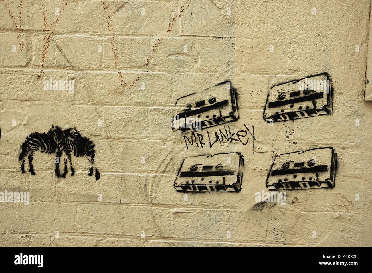 stencil art on urban wall street Brisbane Queensland Australia dsca ...
