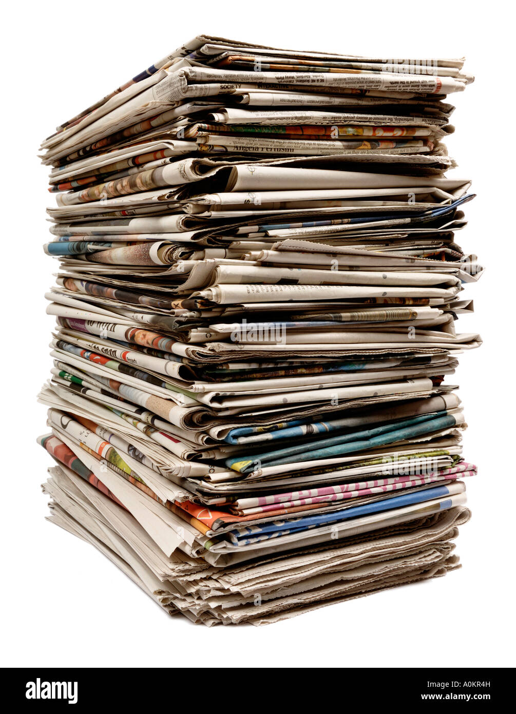 Old newspapers - Stock Image