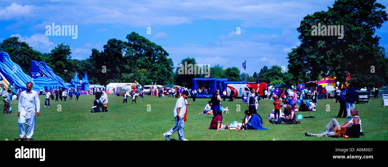 Eid Mela - Eid Fair Muslim Families in Birmingham West Midlands England - Stock Image