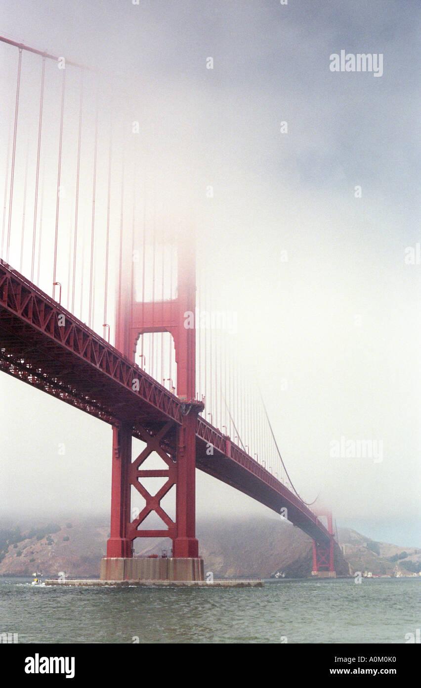 the golden gate bridge in san francisco california - Stock Image