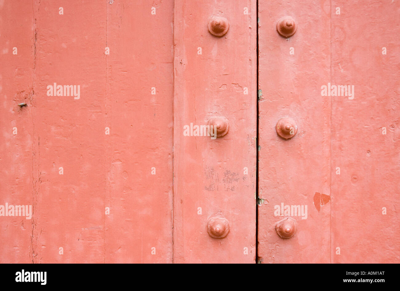 Old door detail in Harvard, Cambridge, Massachusetts - Stock Image