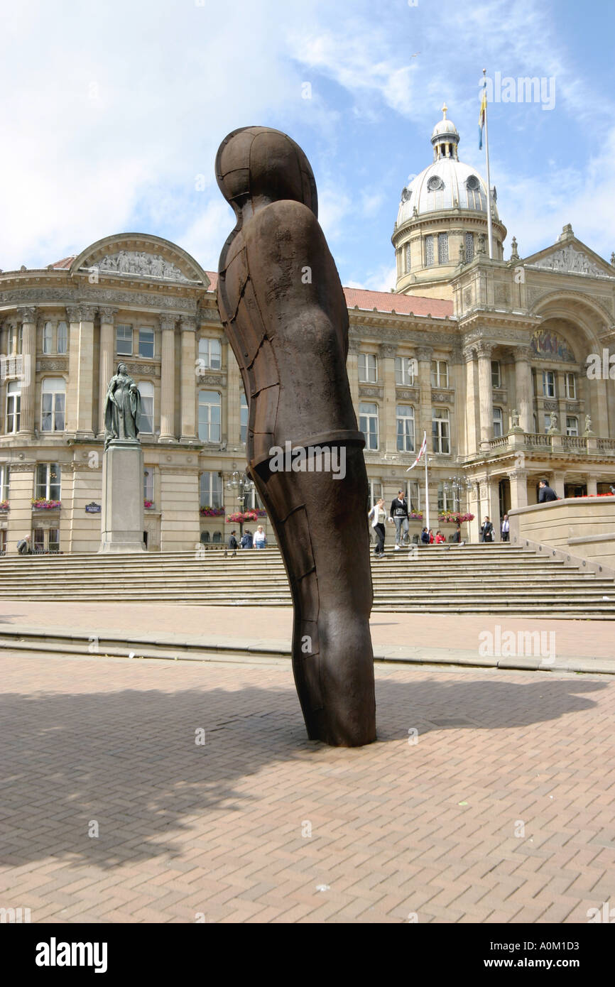 The Iron Man statue in Victoria Square BIrmingham England - Stock Image