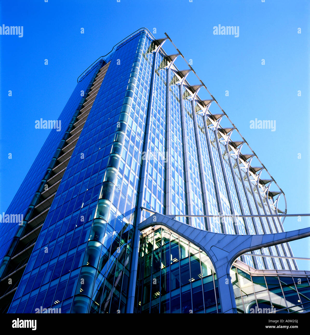 CityPoint Tower glass office building on 1 Ropemaker Street in the City of  London Square Mile England UK  KATHY - Stock Image