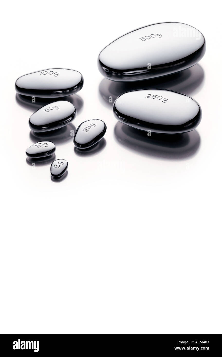 kitchen scale weights - Stock Image