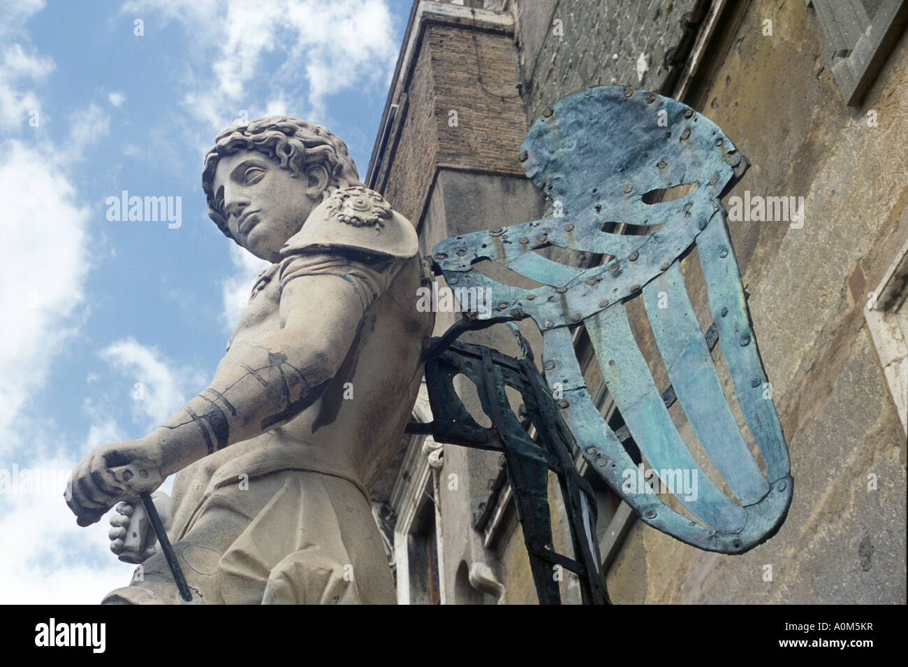 Michelangelo designed angel at Castel Sant' Angelo in Rome, Italy Stock Photo