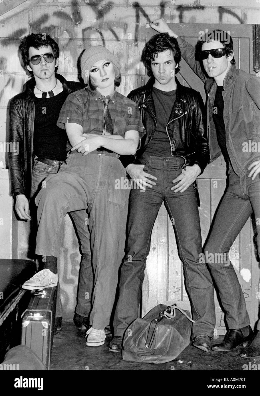 The Electric Chairs. Punk rock band. Photographed at the marquee club London. - Stock Image
