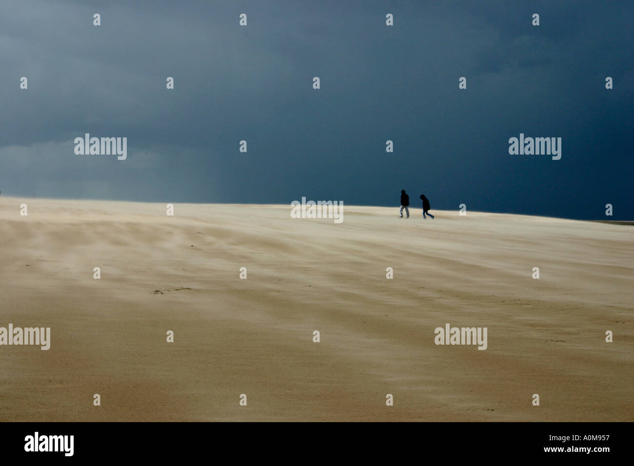 Figures on a Beach - Stock Image