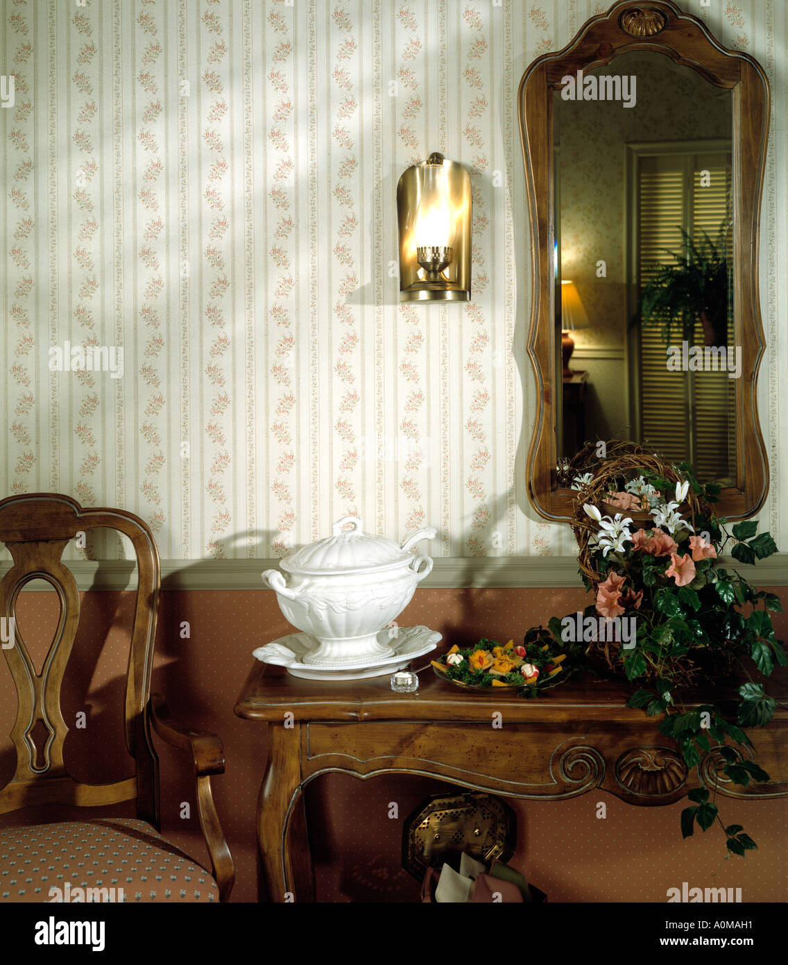 Room Interior Wallpaper Hallway Hall Entrance Dining Room