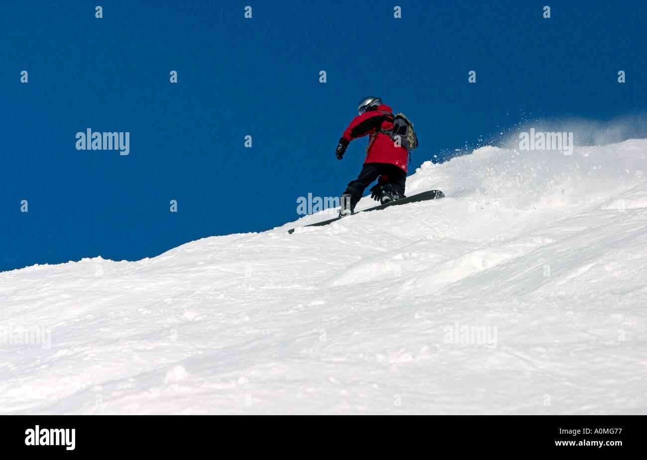 enjoying the ski in grand bornand alps france - Stock Image