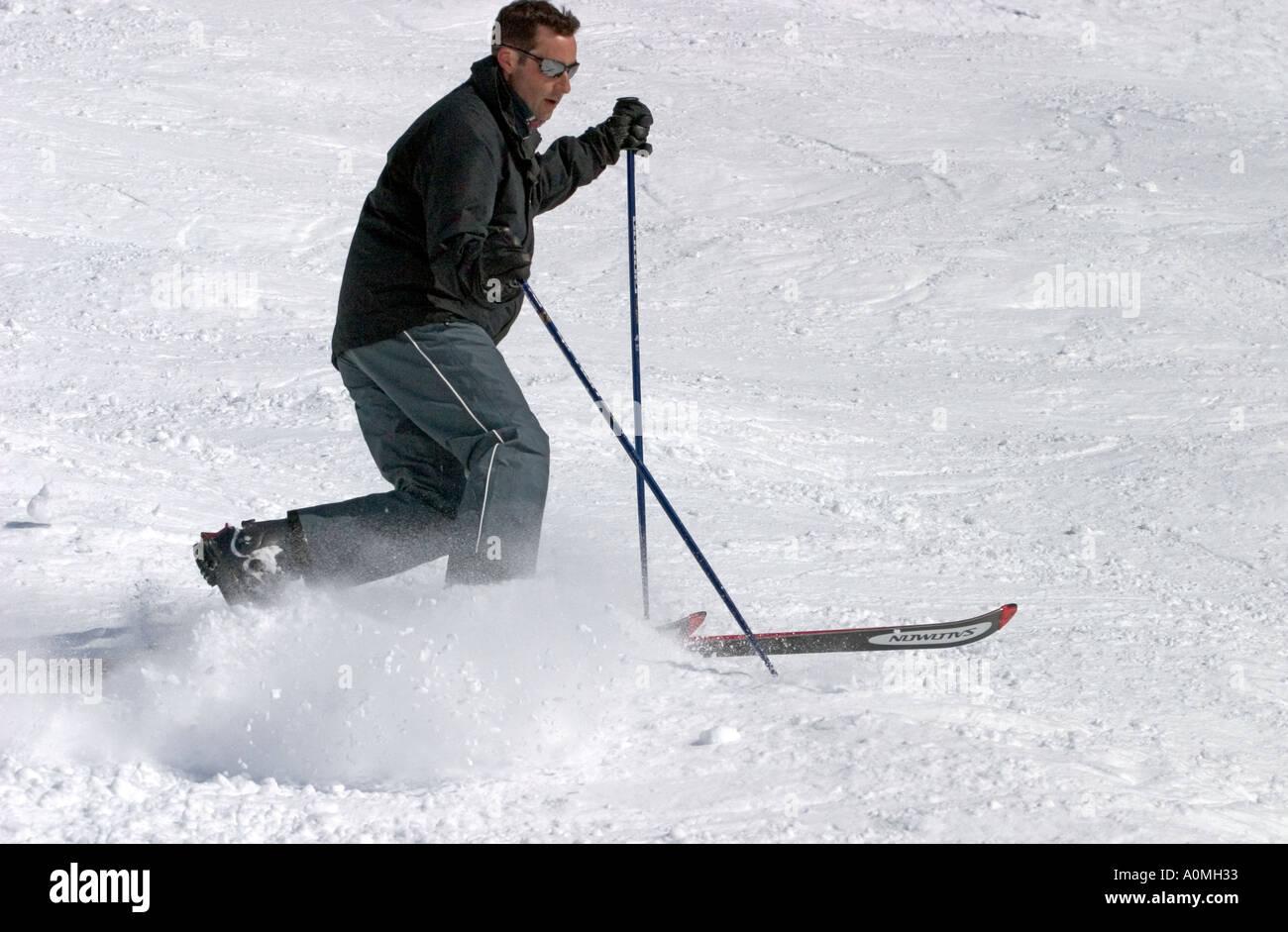 ski moving CROSS Country Skiing  - Stock Image