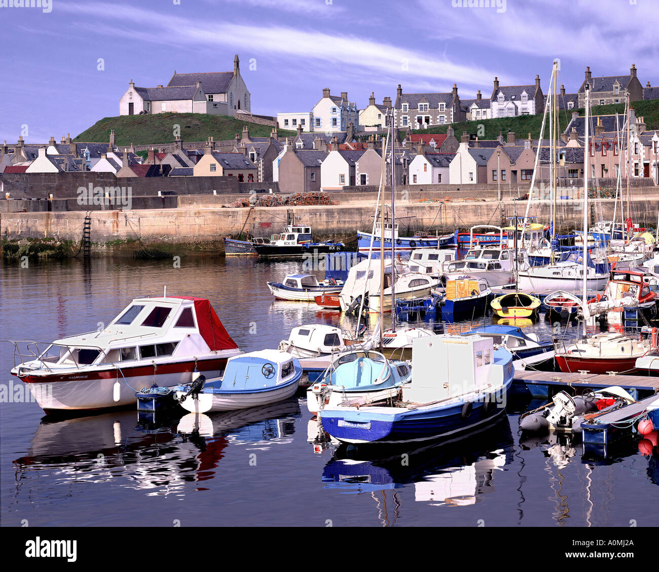 GB - SCOTLAND: Findochty Harbour - Stock Image
